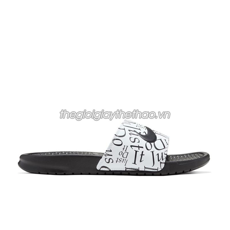 Dép Nike Benassi  Just Do It  Print Black White 631261-032 1