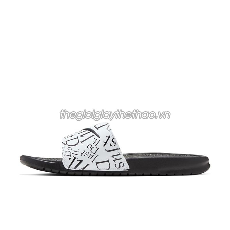 Dép Nike Benassi  Just Do It  Print Black White 631261-032 2