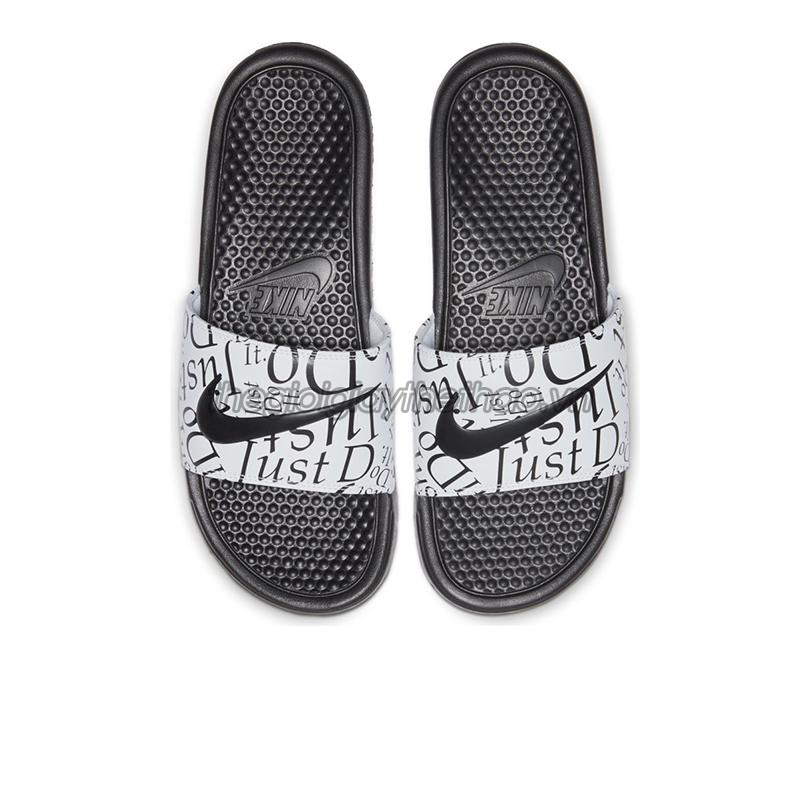 Dép Nike Benassi  Just Do It  Print Black White 631261-032 3