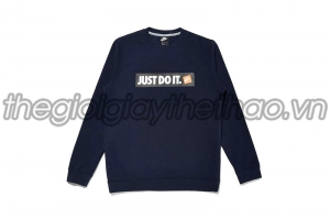 Áo dài tay Nam JUST DO IT NIKE NSW HYBRID FLEECE CREW NAVY
