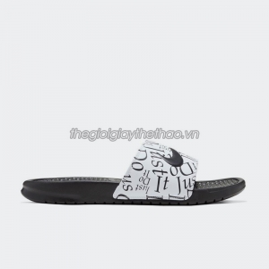 Dép Nike Benassi  Just Do It  Print Black White 631261-032